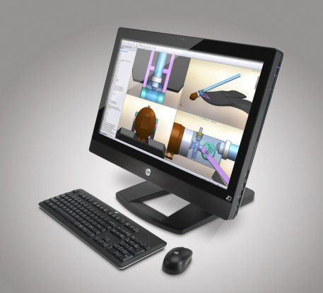 Designer-Workstation von Hewlett-Packard: Die HP Z1 mit 27-Zoll-LED-Display.