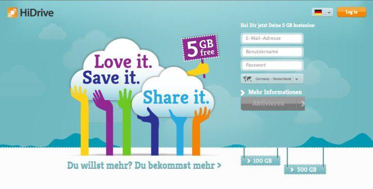 Für den unverbindlichen Test - oder dauerhaftes Gratis-Nutzen - gibt es alternativ noch die Free-Version (free-hidrive.com), die fünf Gigabyte kostenlosen Online-Speicher samt unkomplizierter Anmeldung bietet.