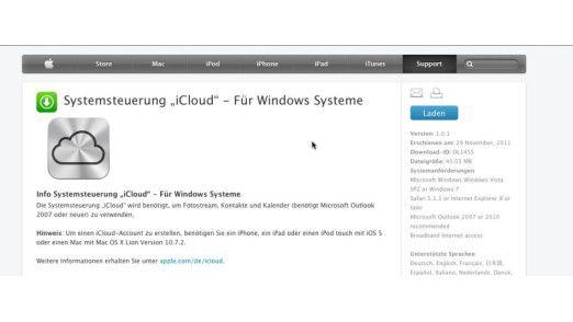 Nicht nur etwas für Macs: Windows-User können sich mit der Gratis-Systemsteuerung die wichtigsten iCloud-Funktionen auch auf den PC holen.
