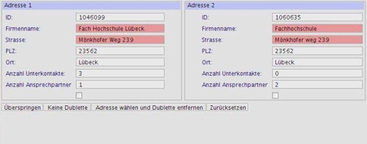 Das Dublettenproblem: Der gleiche Kunde ist in verschiedener Schreibweise in der Datenbank gespeichert.