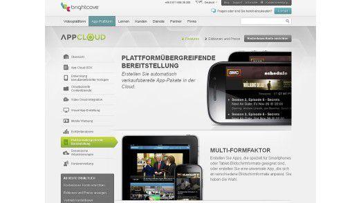 Die App-Plattform App Cloud von Brightcove.