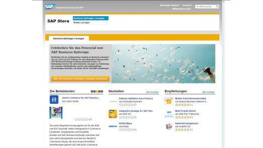 Ein Blick in den SAP Store zeigt vielfältige Funktionen, darunter Bewertungen und Kommentare, wie man sie vom Apple Store und Android Market kennt.