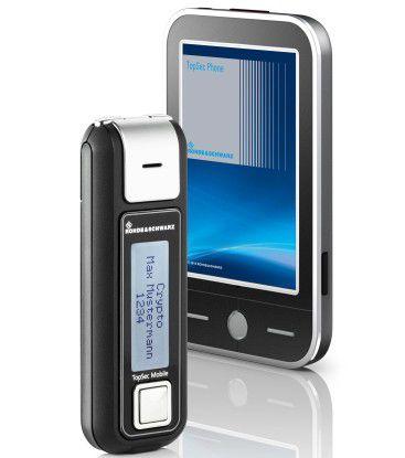 Das TopSec-Headset und ein stylisiertes Smartphone.
