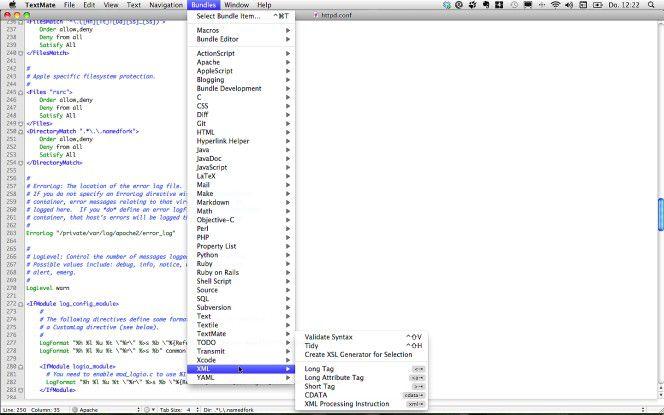 Texteditor für Mac OS X - TextMate.