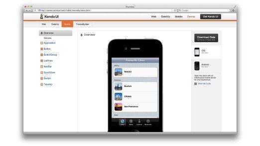 Mit Kendo UI Mobile gelingen hübsche GUIs beispielsweise für Smartphone-Apps.