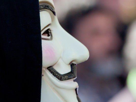"""Die """"Guy Fawkes""""-Maske ist das Erkennungszeichen der Anonymous-Aktivisten."""