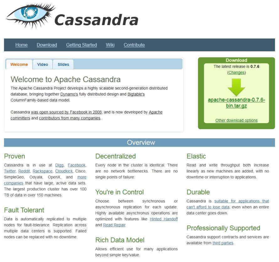 Cassandra gehört inzwischen zu den Top-Level-Projekten der Apache Software Foundation.