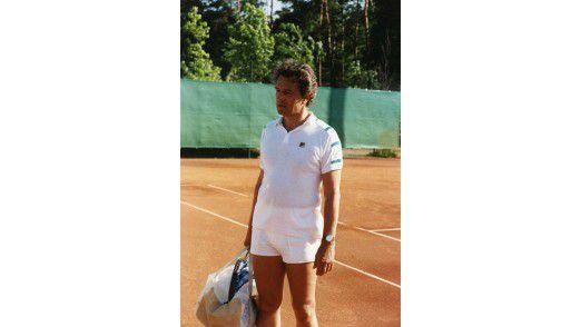 Hasso Plattner beim Tennistournier zum 15. Geburtstag von SAP.