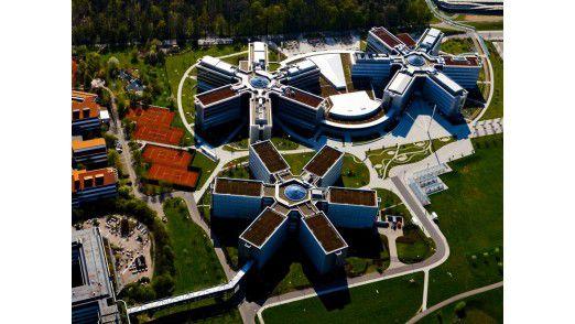 SAP-Campus in Walldorf bei Heidelberg aus der Vogelperspektive
