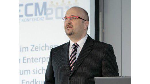 """""""ECM ist komplex - und in der Cloud wird es nicht einfacher"""", Guido Schmitz, Pentadoc AG."""