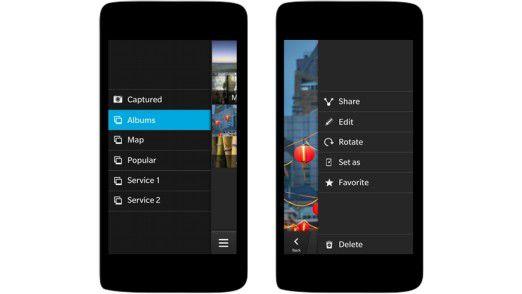 Das Cascades Framework demonstriert die Navigation in künftigen Blackberry-10-Apps