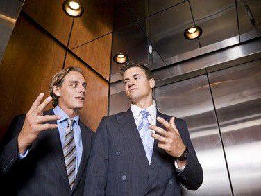 """Der so genannte """"Elevator Pitch"""" steht für eine knappe und wirksame Eigenpräsentation."""