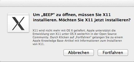 X11 und Java fehlen (wie bei Lion) nach der Installation von OS X Mountain Lion.