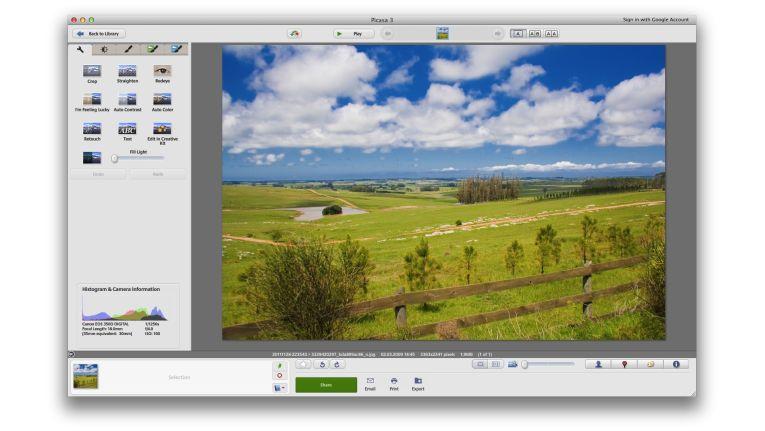 Kostenlose Bildbearbeitung mit Picasa von Google.