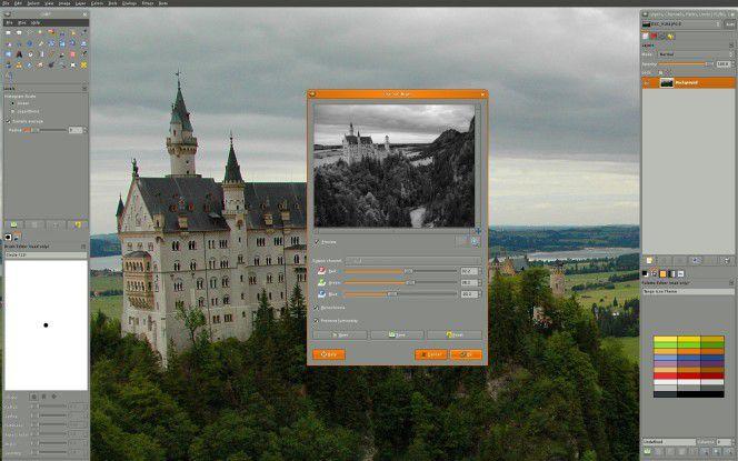 Bildbearbeitungssoftware Gimp.