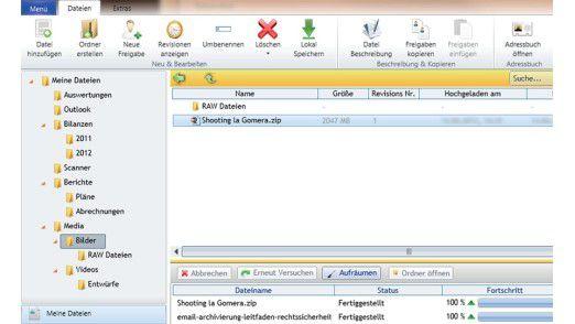 """SquareShare bietet eine """"Dropbox"""" mit Business-Anforderungen."""