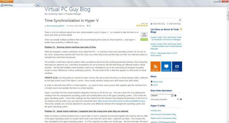 Zeitfragen: Microsoft-Programm-Manager Ben Armstrong erklärt detailliert Ursachen und Workarounds für Zeitabweichungen in Hyper-V.