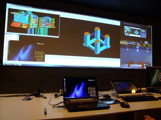 UC eröffnet neue Anwendungen und Business-Felder - im Bild etwa die Konstruktiuon einer Bohrinsel aus der Ferne.
