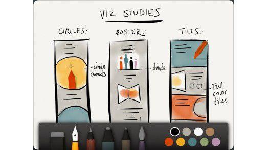 Top-iPad-App 2012: Die Skizzen-App Paper