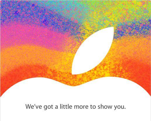Apple gibt sich bei der Einladung wie gewohnt geheimnisvoll.