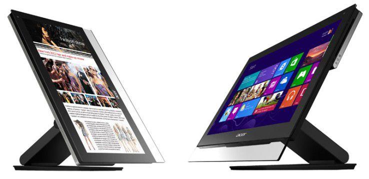 Der Acer Aspire 7600U wartet mit einem Touch-Display auf.