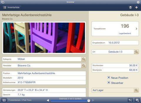Die FileMaker-Lösung in der Inventarverwaltung...