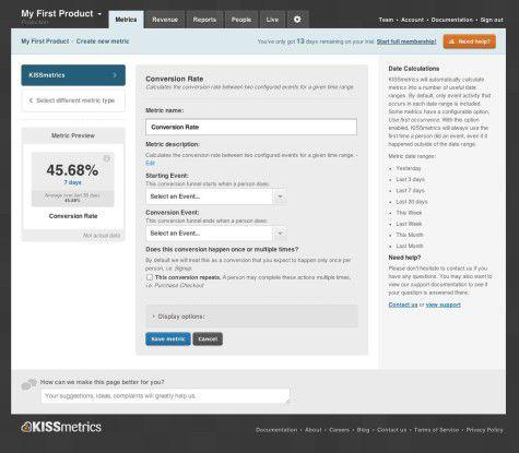 """""""Kissmetrics"""" ist ein leistungsstarkes Analytics-Tool, das den Anwender in den Vordergrund stellt."""
