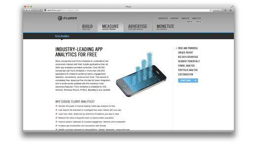 """""""Flurry Analytics"""" arbeitet à la """"Google Analytics"""" für mobile Apps."""