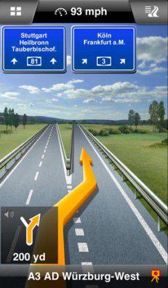 Ganz vorne bei den Softwarelösungen: Navigon Europe für das iPhone