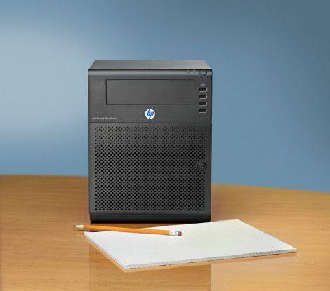 Die geringen Abmessungen und Lüftergeräusche machen Micro-Server als Einstiegsgeräte ideal für Büroumgebungen.
