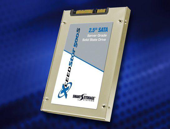 """Den """"Xceed Stor 500S""""- SSD-Speicher von Smart Storage Systems gibt es mit 60, 120, 240 und 480 GB Kapazität und soll trotz kostengünstiger MLC-Bausteine unternehmenstauglich sein."""
