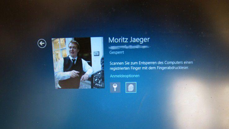 Biometrischer Login: Windows 8 bringt alle notwendigen Funktionen mit.
