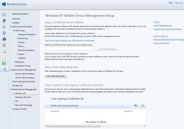 Mit Windows Intune sind künftig auch Geräte mit Windows Phone 8 oder Windows RT verwaltbar.