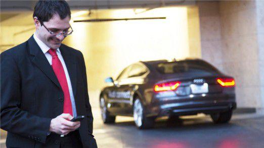 Die Zukunft des Einparkens, wie sie sich Audi vorstellt.