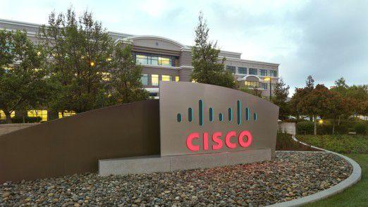 Firmenschild an der Cisco-Zentrale in San José