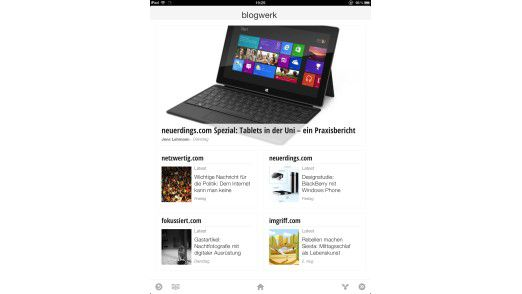 Google Currents bereitet Web-Inhalte für mobile Devices auf.