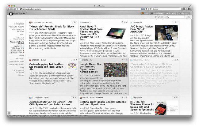 Good Noows ist ein moderner RSS-Reader mit Social-Charakter.