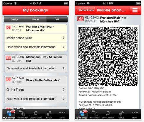 DB Tickets erlaubt die Fahrkartenbuchung auf dem Smartphone - und mehr.