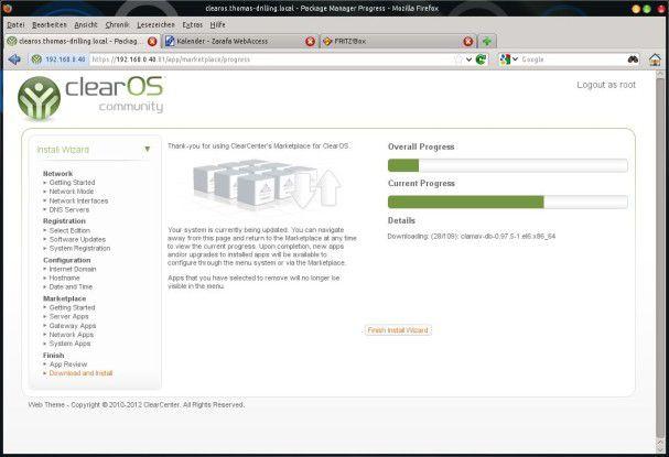 Der App-Store von ClearOS ist weitaus umfangreicher bestückt, als der von Univention.