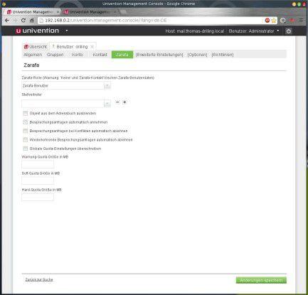 Dank LDAP-Integration lassen sich auch Zarafa-Nutzer in der Benutzerverwaltung des UCS anlegen.