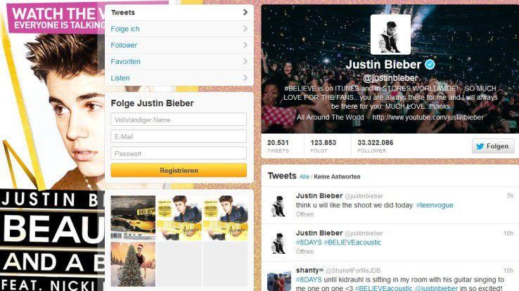 Justin Bieber hat nun mehr Follower als alle anderen Twitterer dieser Welt.