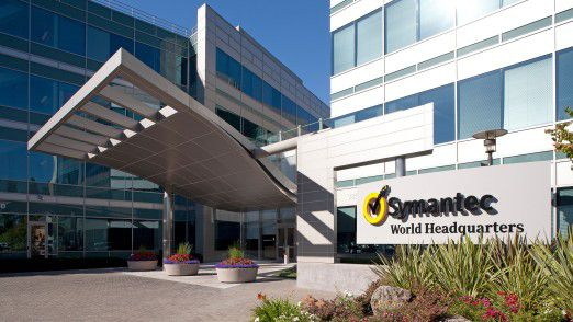 Eingang der Symantec-Zentrale in Mountain View