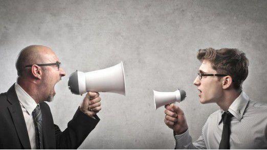 Sich gegenseitig anschreien, bringt gar nichts.