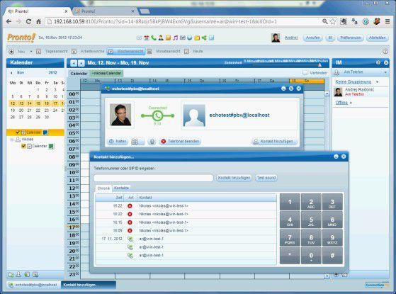 CommuniGate Pro verfügt über eine leistungsfähige Telefonie-Funktionalität.