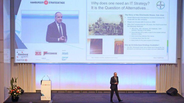 Matthias Moritz sprach vor 700 IT-Manager.
