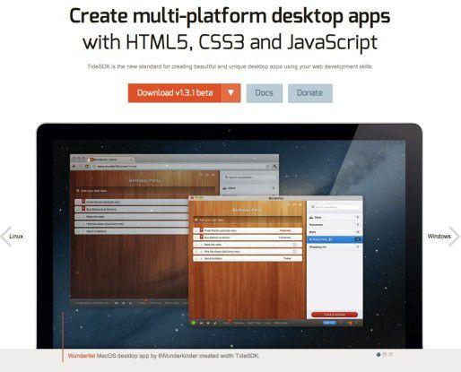 Plattform-übergreifende Desktop-Anwendungen für Windows, Mac OS X und Linux mit TideSDK erstellen.