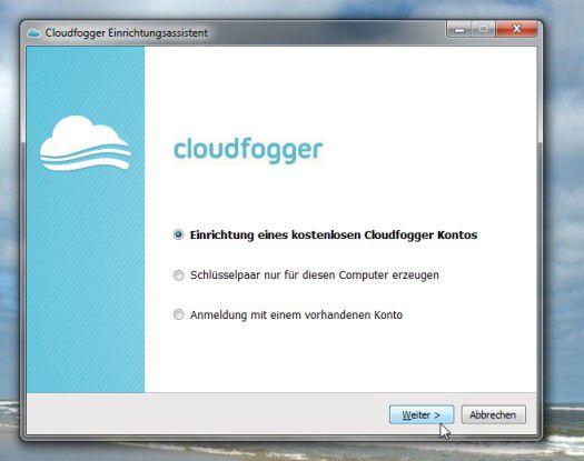 Cloudfogger bietet bei der Installation auch die Möglichkeit, ein Schlüsselpaar nur lokal zu erzeugen.
