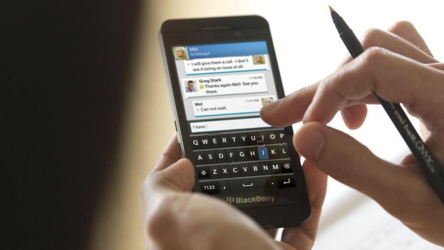 bild der blackberry z10 offensichtlich ein ladenh ter. Black Bedroom Furniture Sets. Home Design Ideas