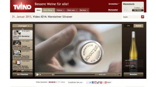 Videos können hervorragend Produkte verkaufen, wie es der Weinshop TVino.de demonstriert.