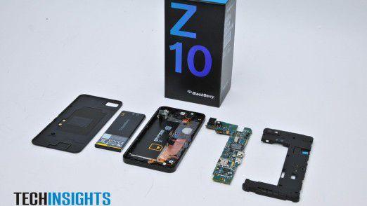 Die Materialkosten des Blackberry Z10 belaufen sich auf 154 Dollar.